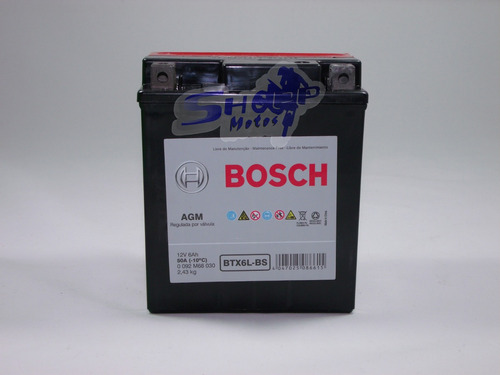 bateria bosch gel p moto titan 150 es esd ano 2004 at 233