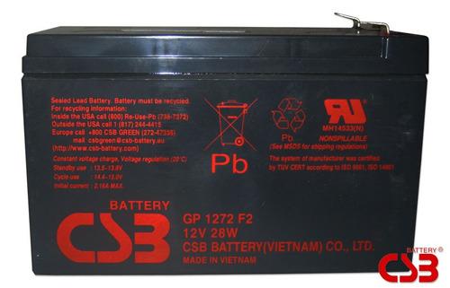 Bateria Csb Gp-1272 F2 12vdc 28w (7.2ah) Sms / Apc Original