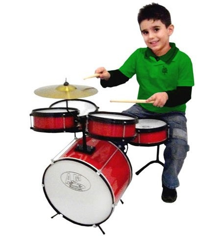 Bateria Infantil Rock Baby (am) 2 Tons Profissional Madeira
