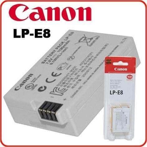 Bateria Original Canon Lp-e8 Eos 600d 550d Kiss X4 T2 T3i