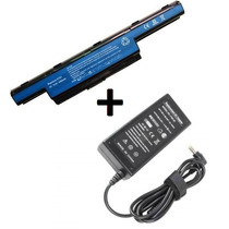 Kit Bateria As10d51 + Fonte Carregador Para Notebook Acer