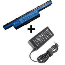Kit Bateria As10d51 + Fonte Carregador Para Notebook Acer