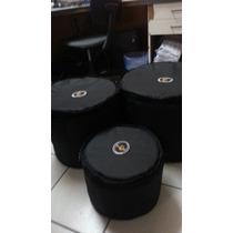 3 Bags De Bateria Para Bumbo 18x14, Tom 10x8,surdo 14x14