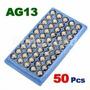 50 Baterias Modelos Ag13, G13, Lr44w, 357a, Sr44, Cx44, A76