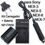 Kit Bateria + Carregador Np-fw50 Sony Bc-vw1 Nex3 Nex-5 A37k