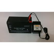 Bateria Selada 12v 7,2v + Carregador 12v 800mah Uso Nobreak