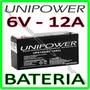 Bateria 6v 12a - Moto Elétrica, Brinquedo, Carrinho Elétrico
