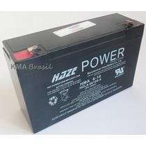 Bateria Selada 6v 10ah Haze Power - 2 Anos De Vida Útil
