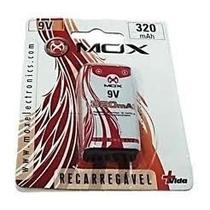Bateria Mox Recarregável 9v 320 Mah Original Rádio Controle