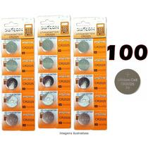 Bateria Lithium Cr2025 3v Cartela Com 100 Unidades Placa Mãe