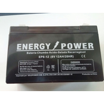 Bateria Selada 6 Volts 12 Amperes Bandeirante E Outros