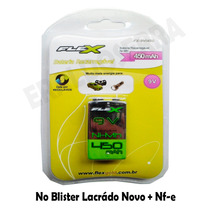 Bateria Recarregável 9v 450mah Flex Fx-9v/450 Microfone Nf-e
