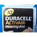 Bateria Para Aparelho De Audição 10 Com 4 Original Duracell