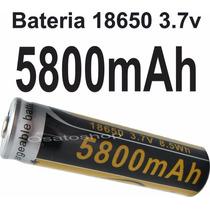 Bateria Recarregável 18650 5800mah 3.7v Lanterna Tática