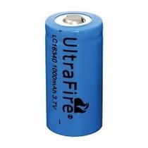 Mini Bateria Recarregável Li-ion 16340 3.7v 1000 A 3800mah