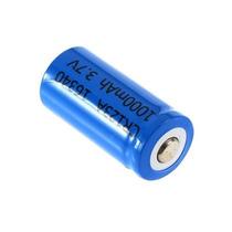 Bateria Pilha 16340 Pequena Recarregável Lanterna Tatica