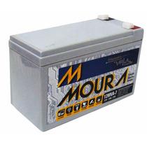 Bateria Estacionária Moura 7ah 12v - No Break/cerca Elétrica