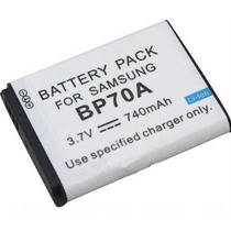 Bateria Bp70a P/ Camera Digital Samsung Sl630 Es71 Es73 St60