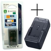 Bateria Sony Np-f970 Original + Carregador Bc-v615