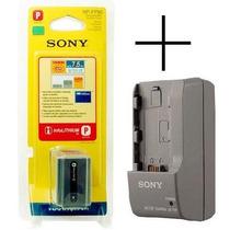Bateria Sony Np-fp90 Original + Carregador Bc-trp