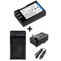 Kit Bateria Enel9 + Carregador P/ Nikon D60 D40 D40x D3000