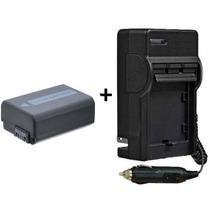 Kit Bateria Np-fw50 + Carregador Para Sony Alpha Slt-a55 A33