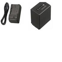 Kit Bateria Np-fv100 + Carregador P/ Sony Dcr-pj5 Dcr-pj6