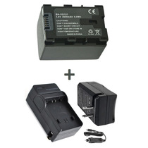 Kit Bateria Bn-vg121u + Carregador P/ Jvc Everio Gz-e10 E200