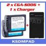 Kit 2 Baterias Cga-s006 +carregador Panasonic Lumix Dmc-fz35