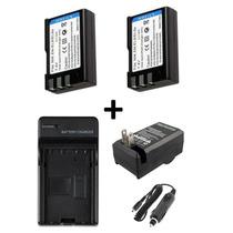 Kit 2 Baterias Enel9 + 1 Carregador P/ Nikon D3000 D5000 D60
