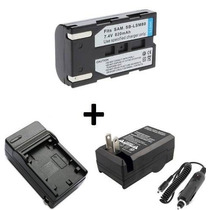 Kit 2 Baterias Sb-lsm80 + Carregador Samsung Mini Dv Sc-d363