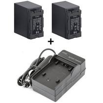 Kit 2 Baterias + Carregador Cga-d54 D54 Panasonic Ag-dvc7
