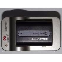 Bateria Sony Np-fh50+ Carregador Trp P/ Fh30 Fh50 Fh70 Vh1