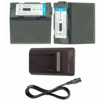 Kit 2 Baterias Cgr-d28s + 1 Carregador P/ Panasonic Ag-dvc20