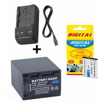 Bateria Np-fv100 + Carregador + Bateria Bn1 Sony Sx44 E W610