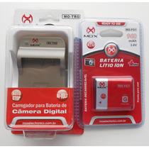 Bateria + Carregador Mo-fg1 - Bg1 Para Máquina Sony Dsc-w110