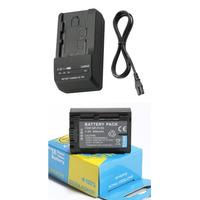Kit Bateria Np-fv50 P/ Sony Handycam Dcr-sx63 Dcr-sx65 Sx83