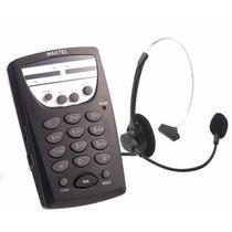 Telefone Maxtel Headset Mt-108 Atendimento Em Telemarketing