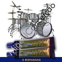 2 Massa Polir Metal Instrumentos Musicais Bateria Suportes