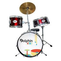 Bateria Infantil Dolphin Baby 3 Pecas Vinho Cheiro De Musica