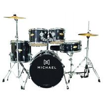Bateria Michael 22 Dm843 Bks Na Cheiro De Música Loja !!