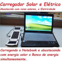 Bateria Extra Carregador Solar Elétrico Portátil P/ Notebook
