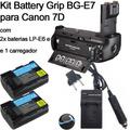 Kit Battery Grip Bg-e7 Para Canon Eos 7d Baterias Carregador