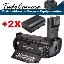 Grip De Bateria Bg-e7 Camera Canon Eos 7d + 2 Baterias Lp-e6