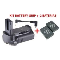Battery Grip Nikon D3200 D3300 D5300 + 2 Baterias 1500mah