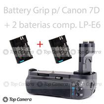 Battery Grip Compatível Canon 60d Bg-e9 + 2 Baterias Lp-e6