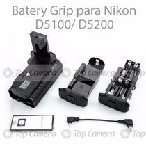 Battery Grip P/ Nikon D5100 D5200 + Controle Remoto