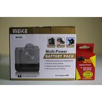 Kit Grip Bateria Meike P/ Canon Eos 60d + 1 Bateria Lp E6