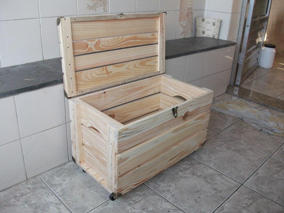 Bau De Caixote De Feira ( Com Rodizios ) Novo R$ 149 90 no  #7B6750 1200x900