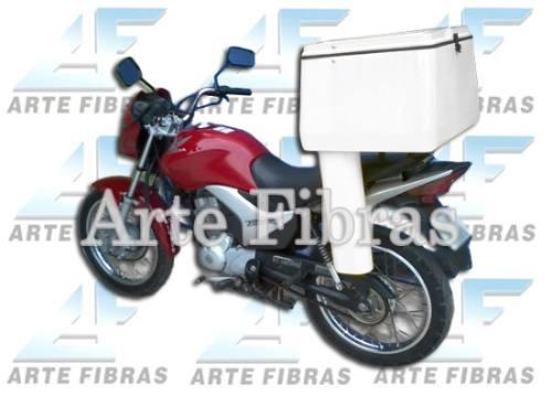 Baú Para Moto 75 Litros Com Tubo